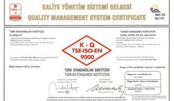 Teknotes Ltd. has been awarded for TSE-ISO-EN 9000 Quality Management System certificate.